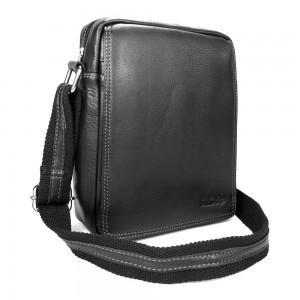 Pánská kožená taška přes rameno SendiDesign IG005 - černá