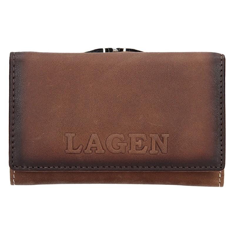 Dámska kožená peňaženka Lagen Denisse - hnedá