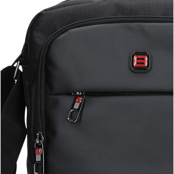 Pánska taška cez rameno Enrico Benetti Ferenc - čierna