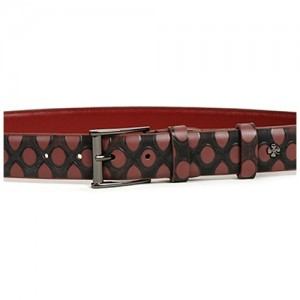 Tmavě červený dámský opasek Doca 54644
