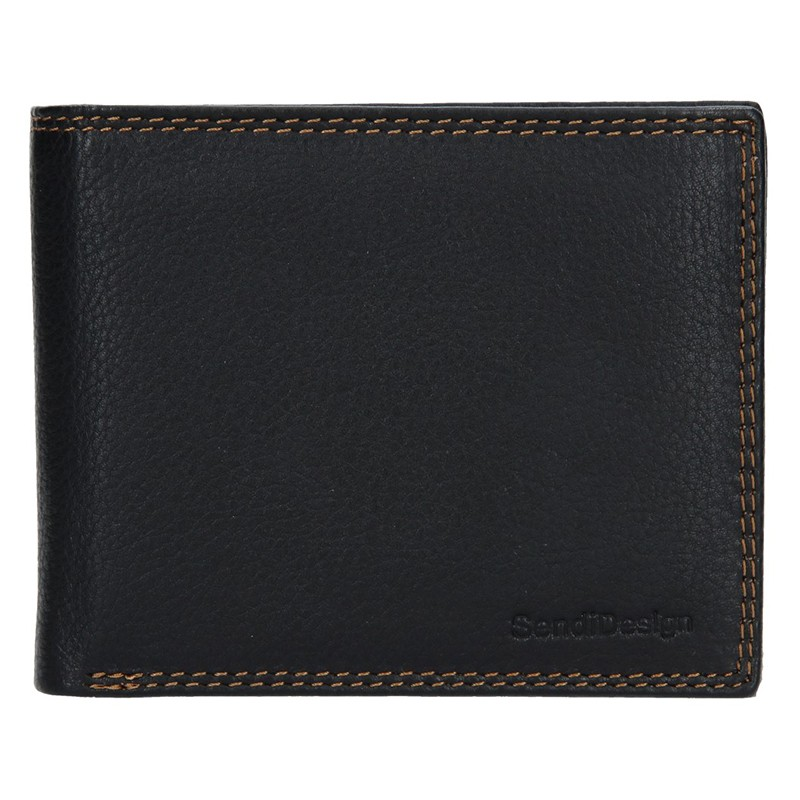 Kožená peňaženka SendiDesign Milan - čierna.