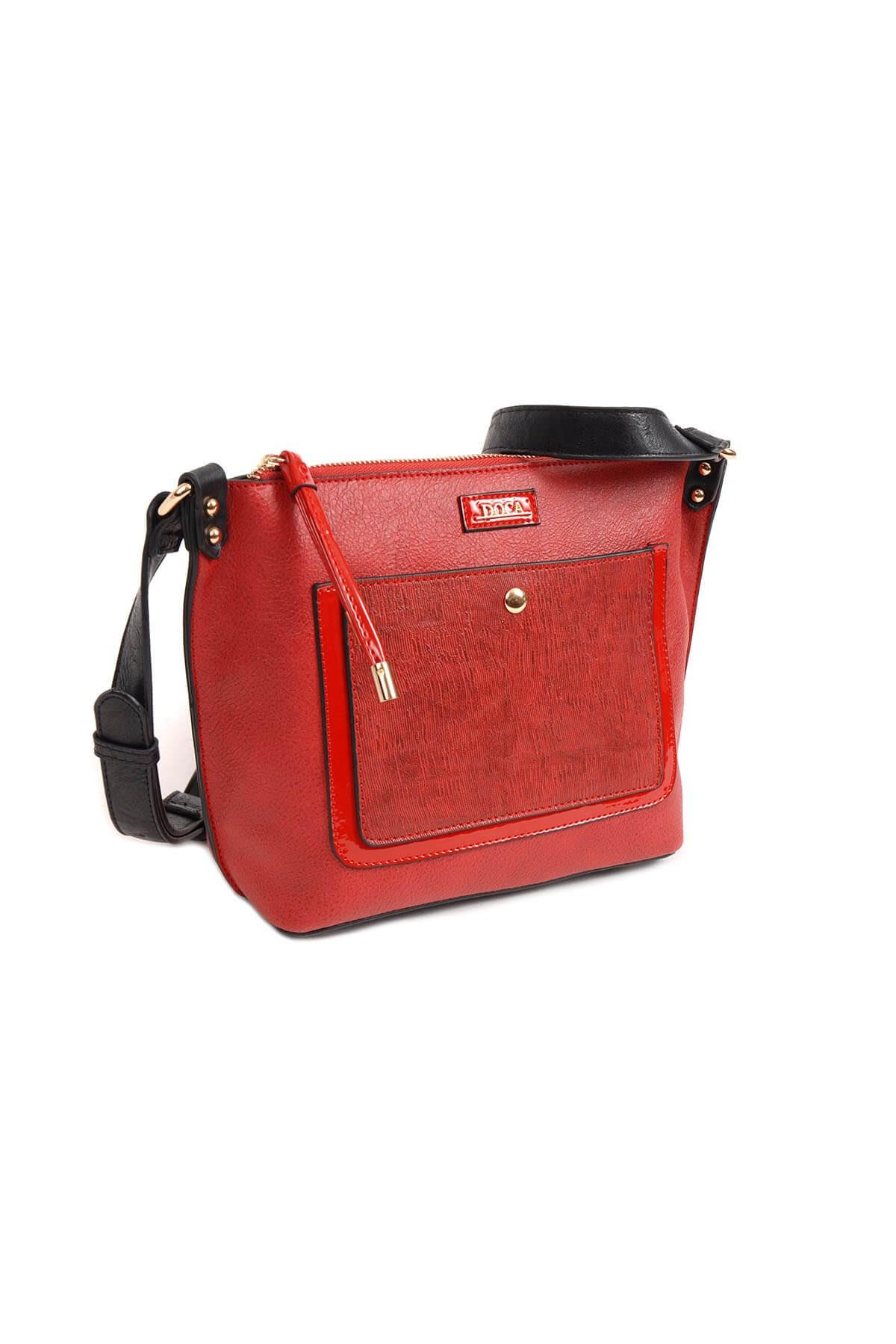 Dámska crossbody kabelka Doca 13949 - červená