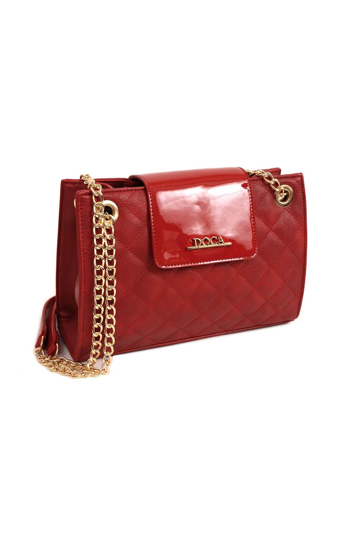 Dámska crossbody kabelka Doca 14155 - červená