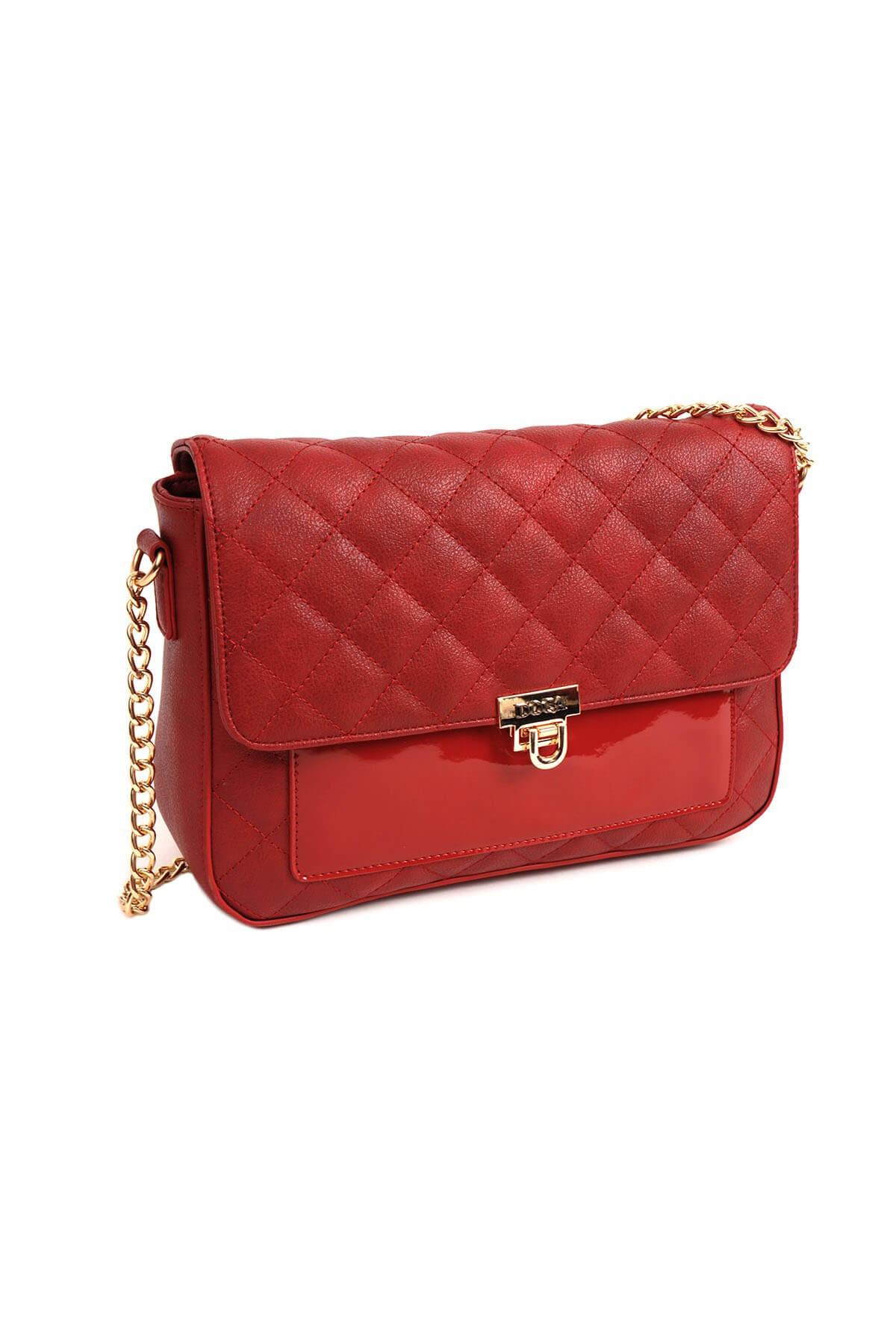 Dámska crossbody kabelka Doca 14158 - červená