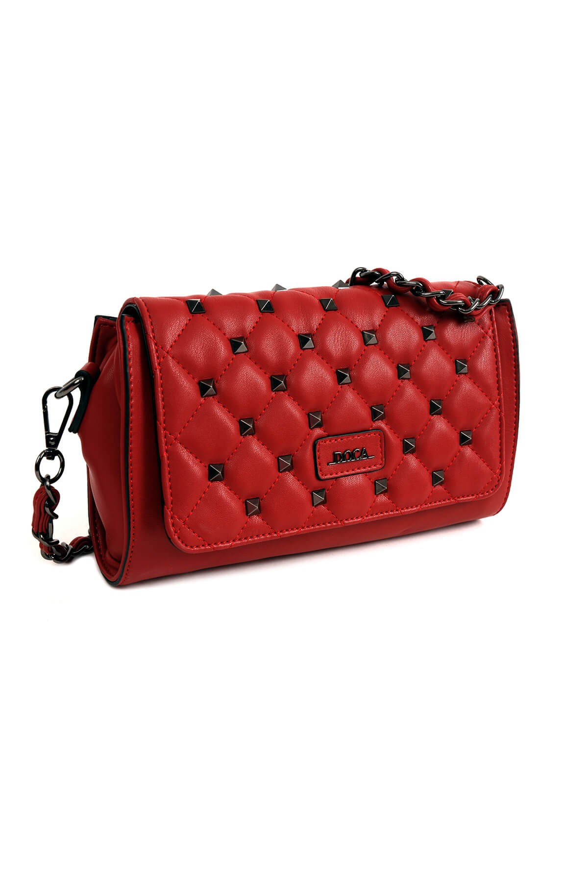 Dámska crossbody kabelka Doca 14373 - červená