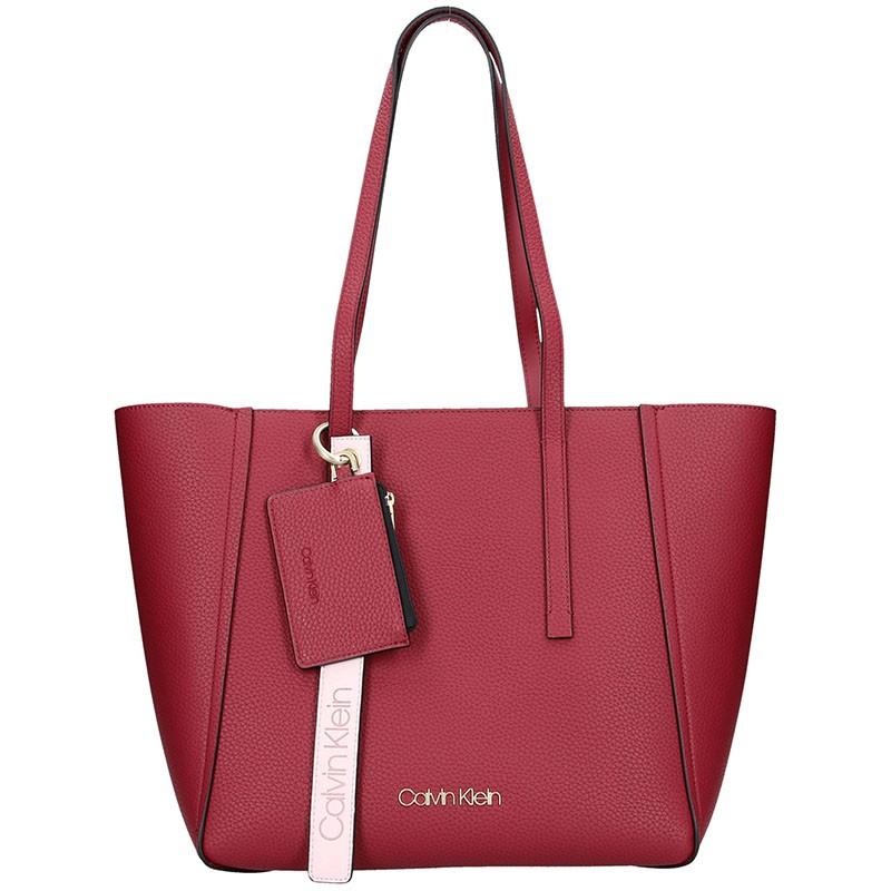 Dámska kabelka Calvin Klein Tinna - vínová