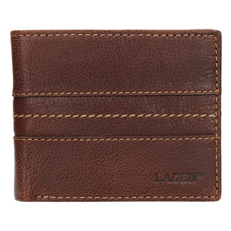 Pánska kožená peňaženka Lagen Andor - hnedá