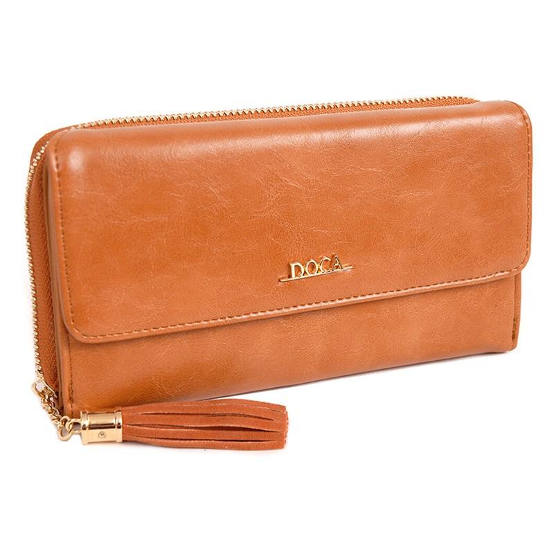 Dámska peňaženka Doca 65005 - svetlo hnedá