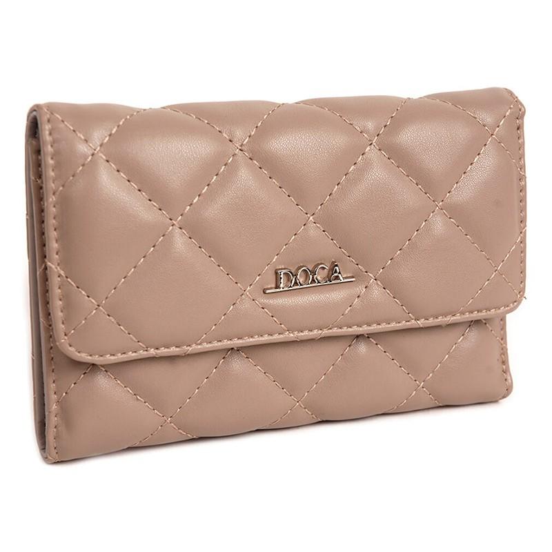 Dámska peňaženka Doca 65012 - svetlo hnedá
