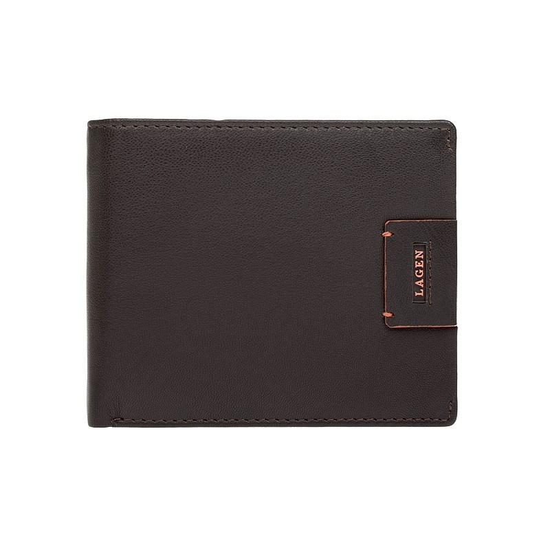 Pánska kožená peňaženka Lagen Ernesto - hnedá