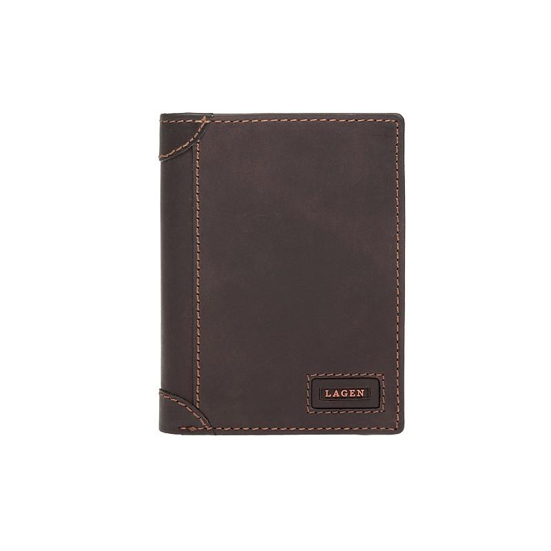 Pánska kožená peňaženka Lagen Bernardo - hnedá