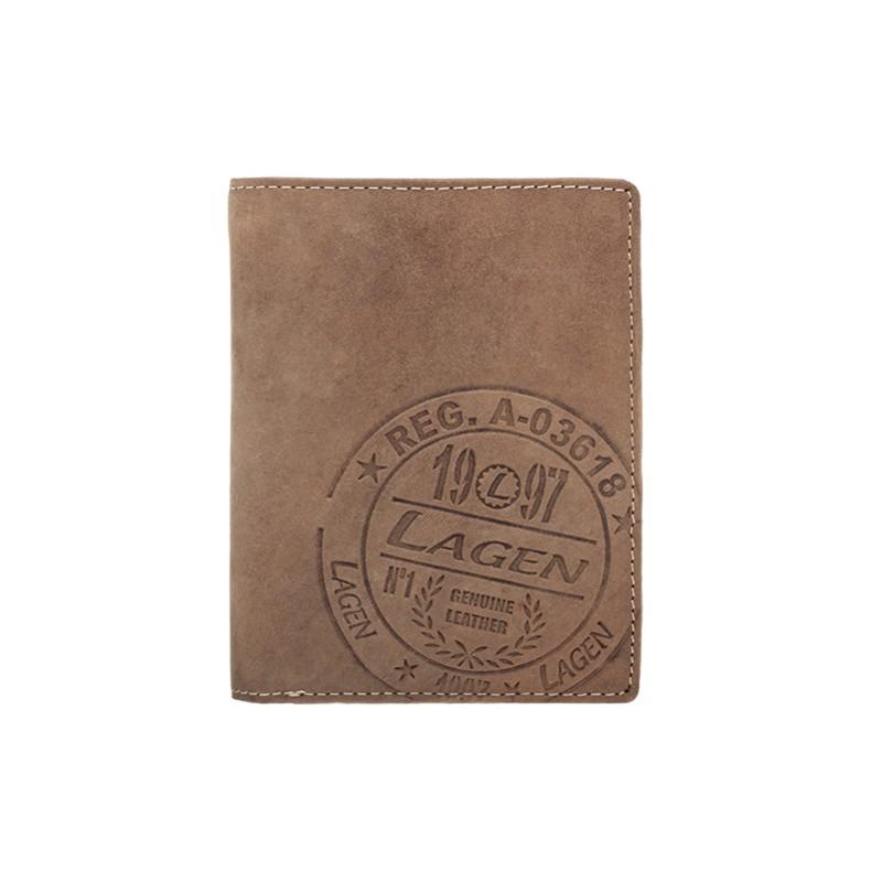 Pánska kožená peňaženka Lagen Gustavo - hnedá