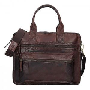 Pánská kožená taška přes rameno Lagen Benedikt - černá