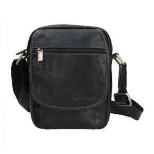 Pánská kožená taška přes rameno SendiDesign CT703 - černá