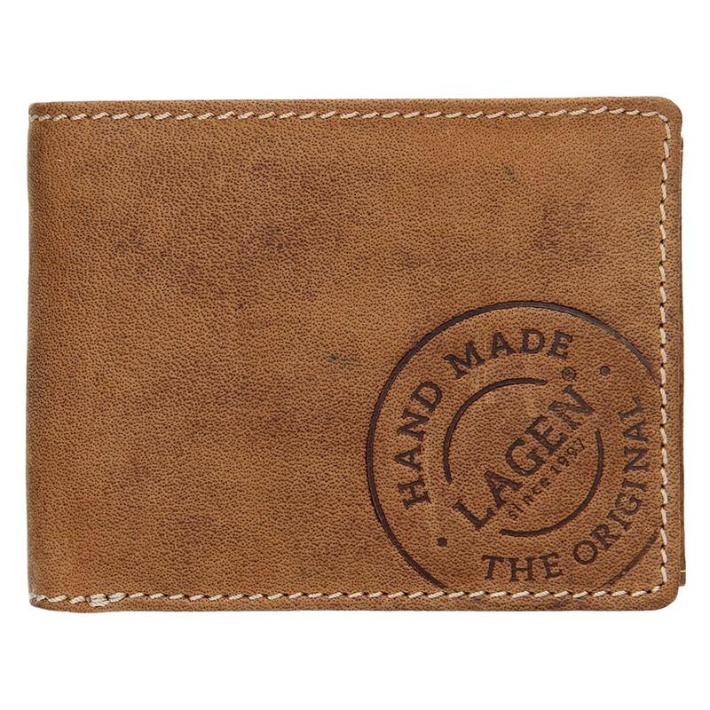 Pánska kožená peňaženka Lagen Jerone - hnedá