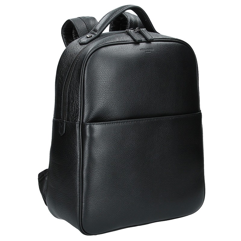 Pánsky kožený batoh Hexagona Encore - čierna