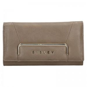 Dámská peněženka Sisley Cassandra - tmavě hnědá