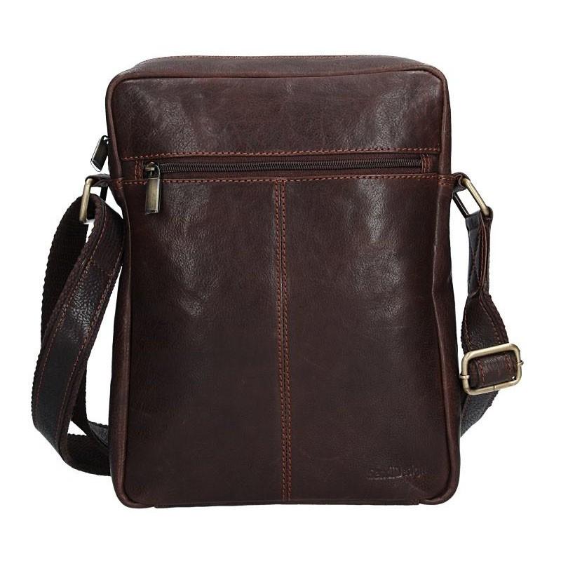 Pánska kožená taška cez rameno SendiDesign CT701 - hnedá