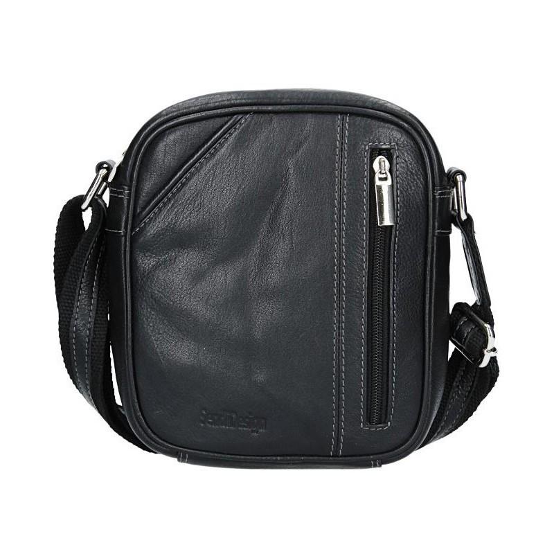 d24217392de75 Pánská kožená taška přes rameno SendiDesign Artur - černá. Pánská kožená  taška přes rameno SendiDesign Artur - černá Přiblížit