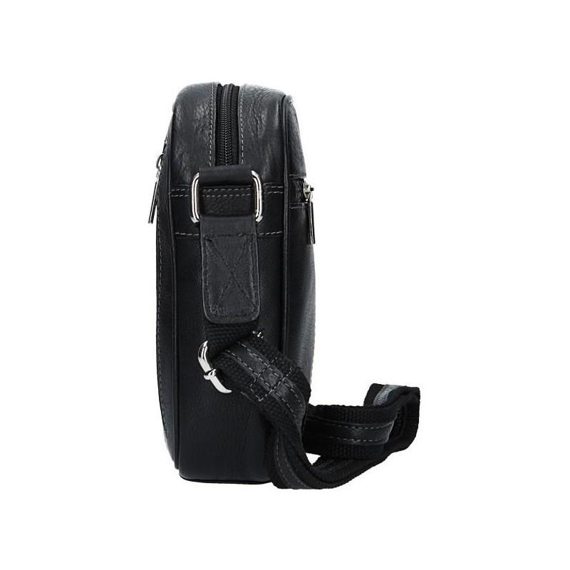 a8ac172ba Pánska kožená taška cez rameno SendiDesign Artur - čierna. Pánska kožená  taška cez rameno SendiDesign Artur - čierna