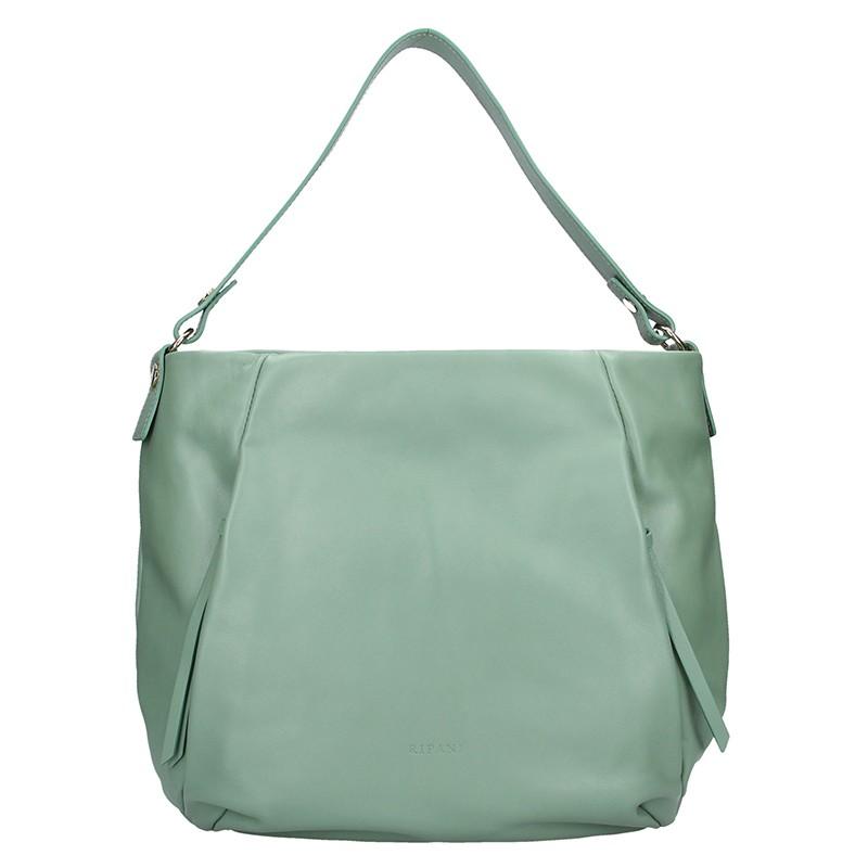 Dámska kožená kabelka Ripani Livre - zelená