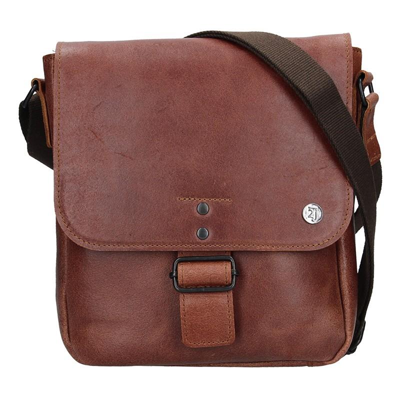 Pánská kožená taška 2JUS Stone 3 - hnědá