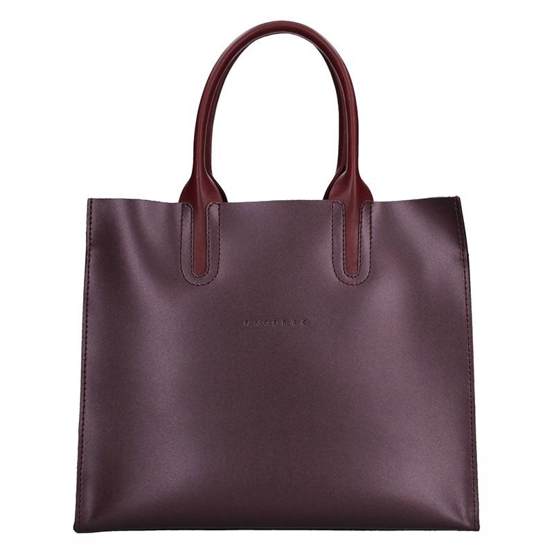 Dámska kožená kabelka Facebag Monarch - vínová.