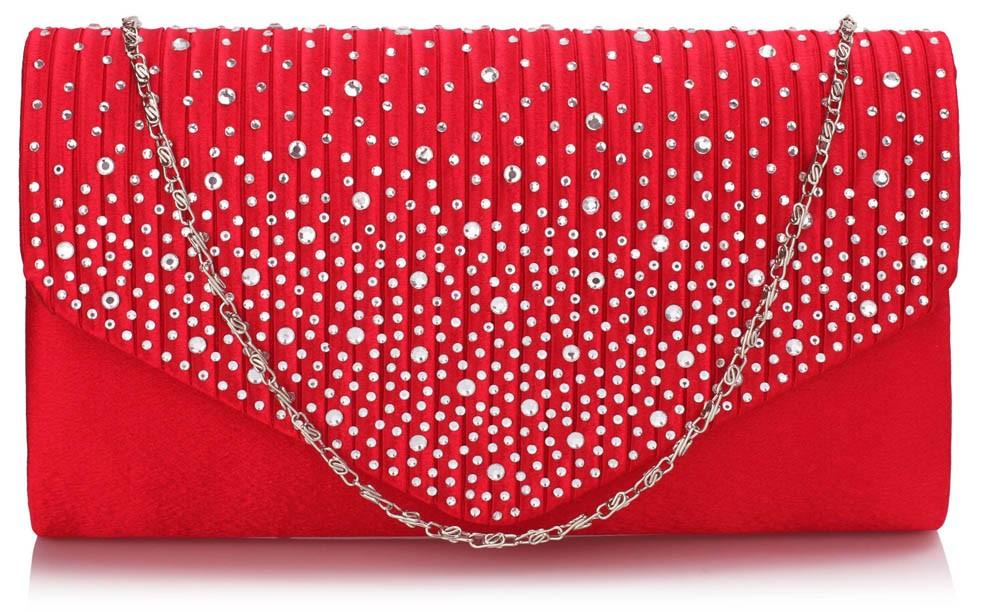 Dámska listová kabelka LS Fashion Alaina - červená