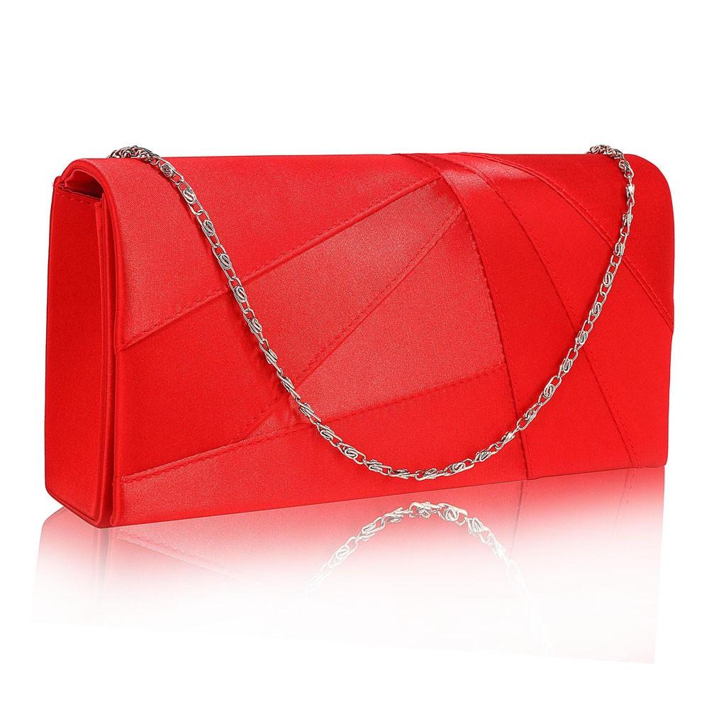 Dámska listová kabelka LS Fashion Quinn - červená