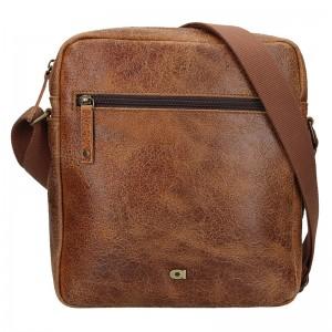 Pánská kožená taška Daag Tobias - světle hnědá