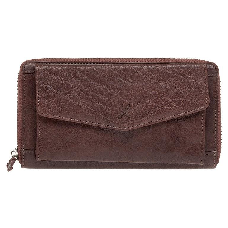 Dámska kožená peňaženka Lagen Lena - hnedá