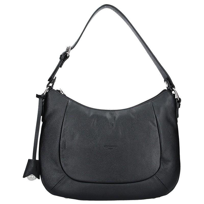 Dámska kožená kabelka Hexagona Polly - čierna