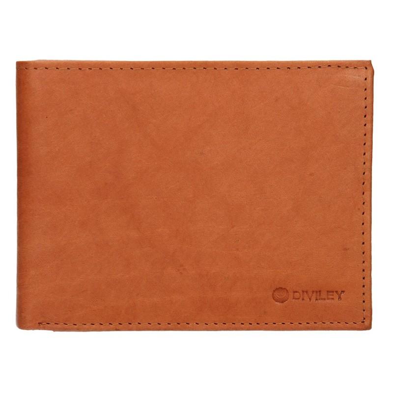 Pánska kožená peňaženka Diviley Peter - koňak