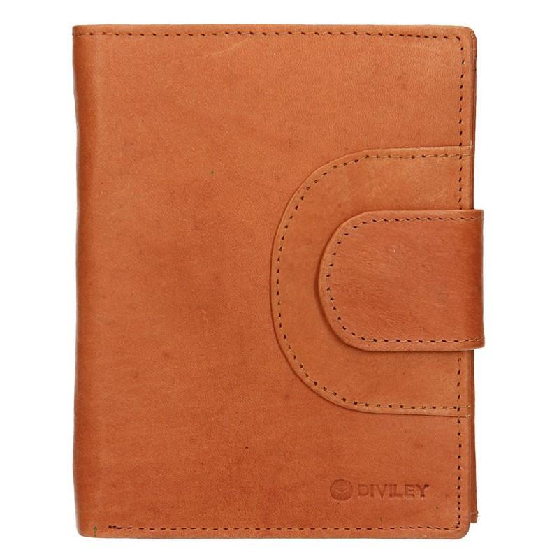 Pánska kožená peňaženka Diviley Timmy - koňak