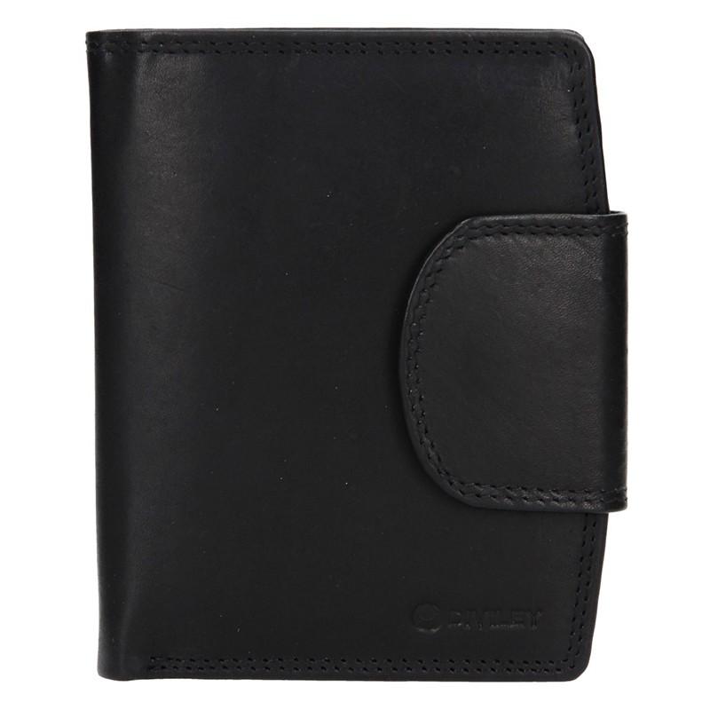 Pánska kožená peňaženka Diviley Luiss - čierna