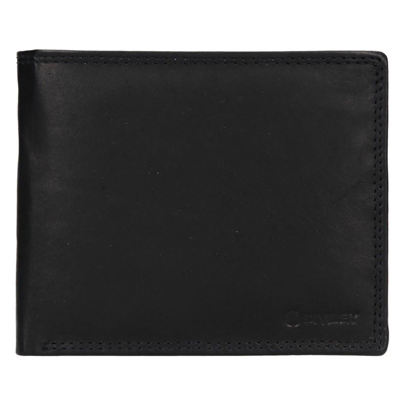 Pánska kožená peňaženka Diviley Evžen - čierna