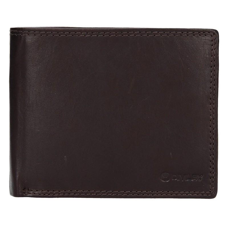Pánska kožená peňaženka Diviley Evžen - tmavo hnedá