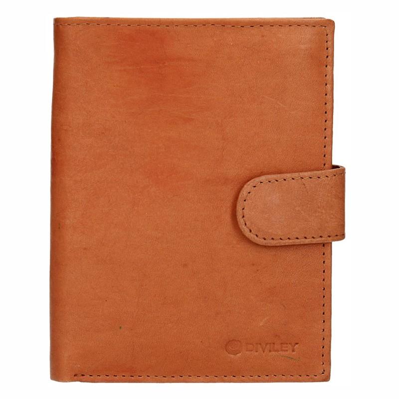 Pánska kožená peňaženka Diviley Brock - svetlo hnedá