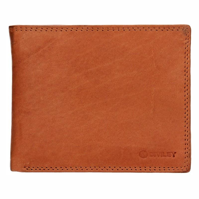 Pánska kožená peňaženka Diviley Evžen - svetlo hnedá