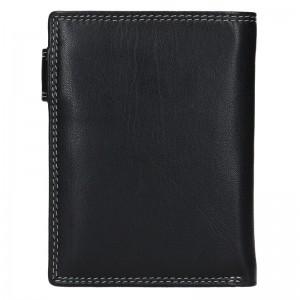 Pánská kožená peněženka DD Anekta Tobias - černo-šedá