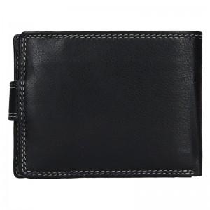 Pánská kožená peněženka DD Anekta Wiliam - černo-modrá