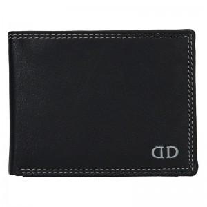 Pánská kožená peněženka DD Anekta Fido - černo-šedá