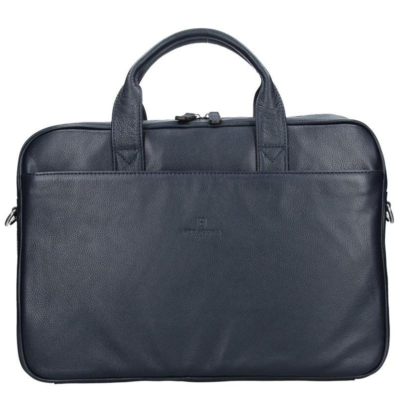 Pánska kožená taška cez rameno Hexagona Tango - modrá