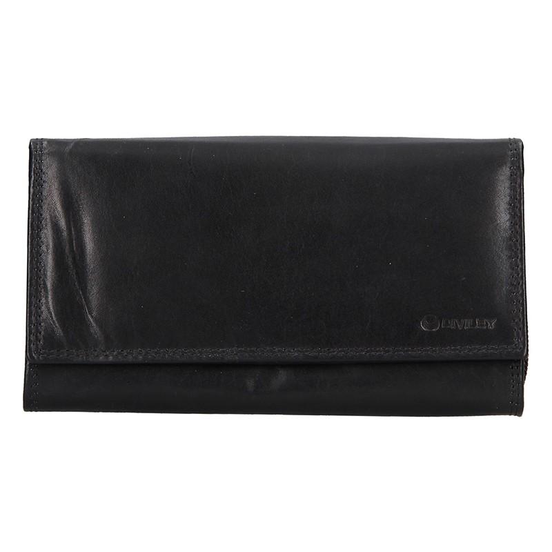 Dámska kožená peňaženka Diviley Lorre - čierna