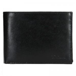 Pánská kožená peněženka Diviley Apolo - černá