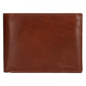 Pánská kožená peněženka Diviley Ross - koňak