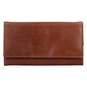 Dámská kožená peněženka Diviley Tinna - hnědá