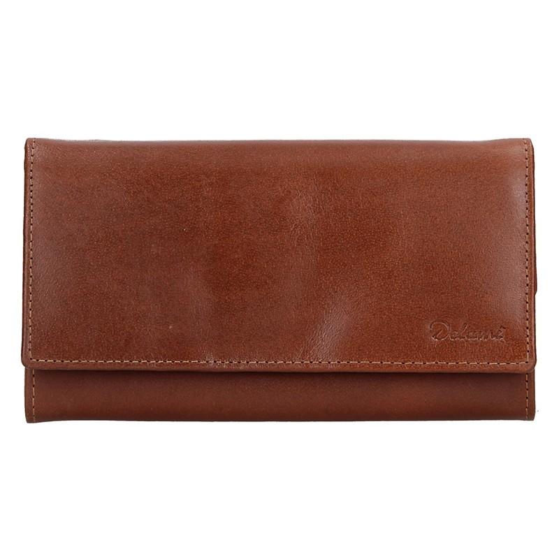 Dámska kožená peňaženka Diviley Tinna - hnedá