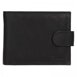 Pánská kožená peněženka Diviley Albert - černá