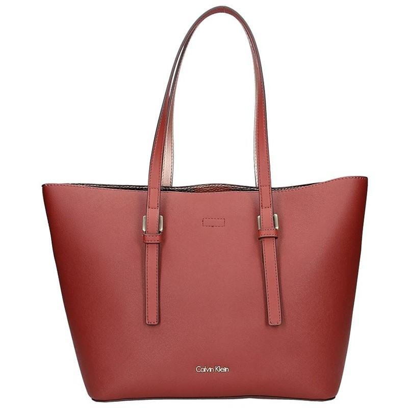 Dámska kabelka Calvin Klein Fiona - vínová